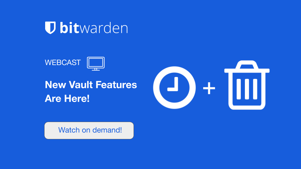 New vault features webcast
